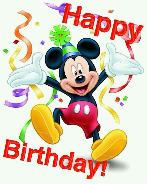 Happy Birthday With Images Happy Birthday Mickey Mouse Mickey
