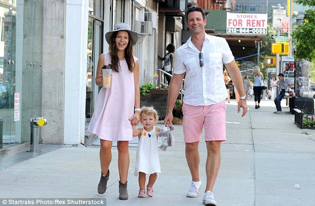 Pretty in pink! Tammin Sursock and husband Sean McEwen were spotted walking around New Yor...