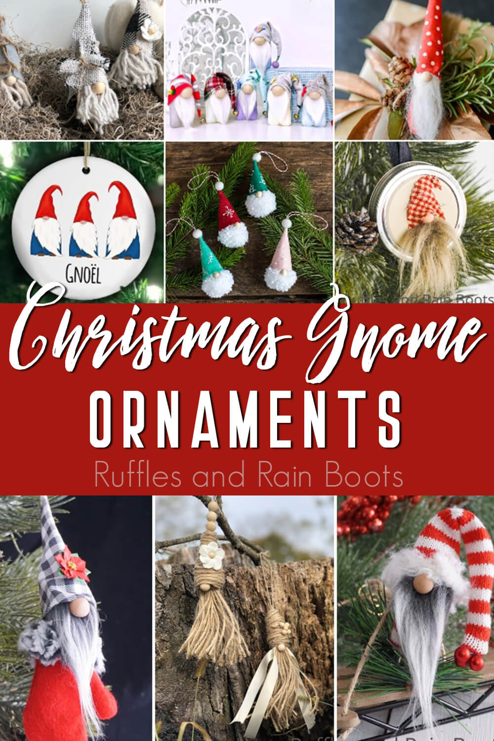 30 Of The Best Gnome Ornaments For Your Farmhouse Christmas Tree Gnome Ornaments Farmhouse Christmas Tree Easy Christmas Diy
