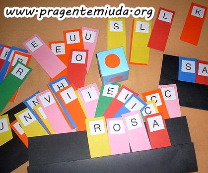 Alfabetização - Jogo das Palavras Coloridas | Pra Gente Miúda