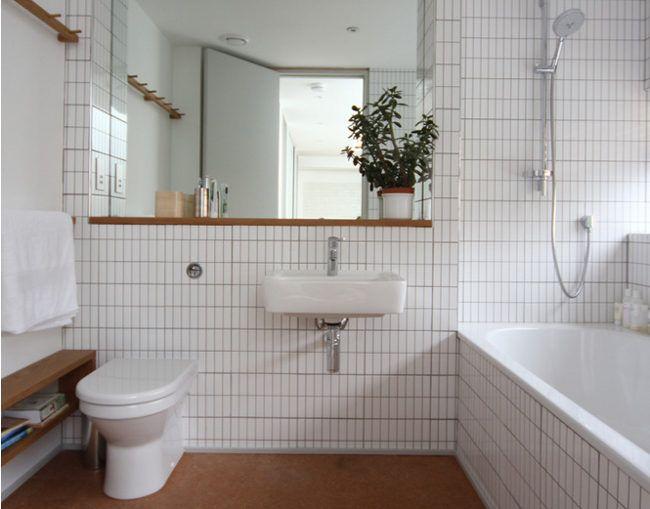 Regal Spiegel Minimalistische Badgestaltung Modernes
