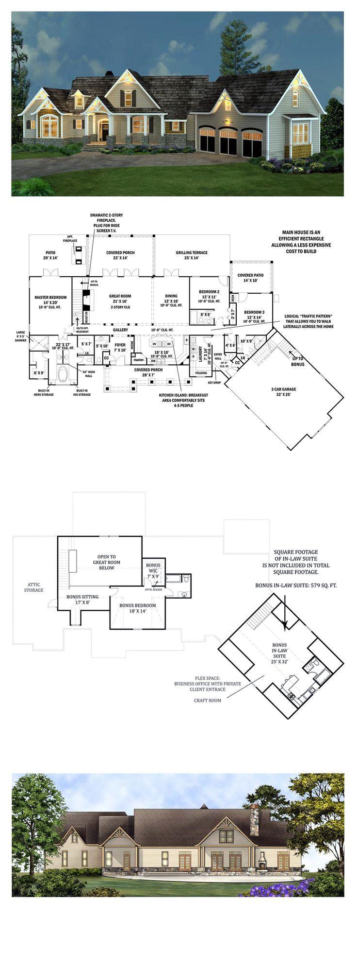 Tudor Style House Plan 98267 With 3 Bed 4 Bath 3 Car