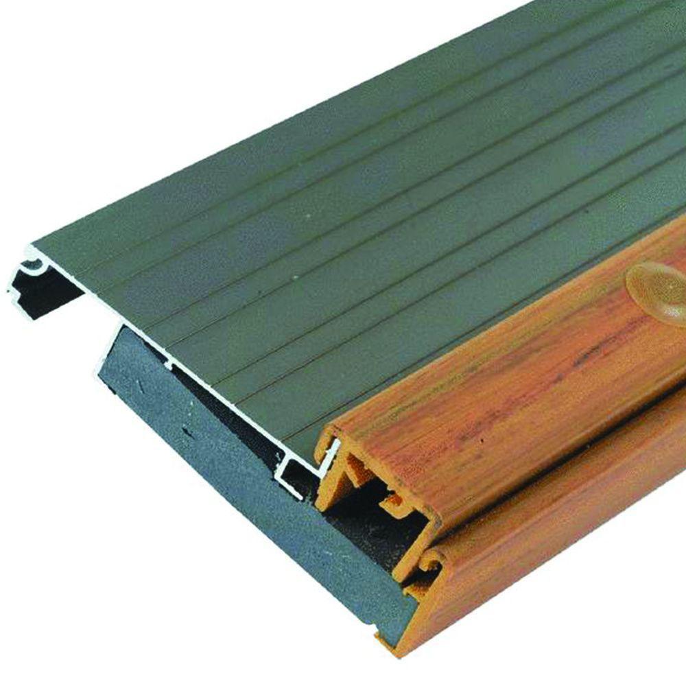 M D Building Products Adjustable 4 5 In X 54 5 In Aluminum Threshold Gray Door Accessories Doors Floors Door Design