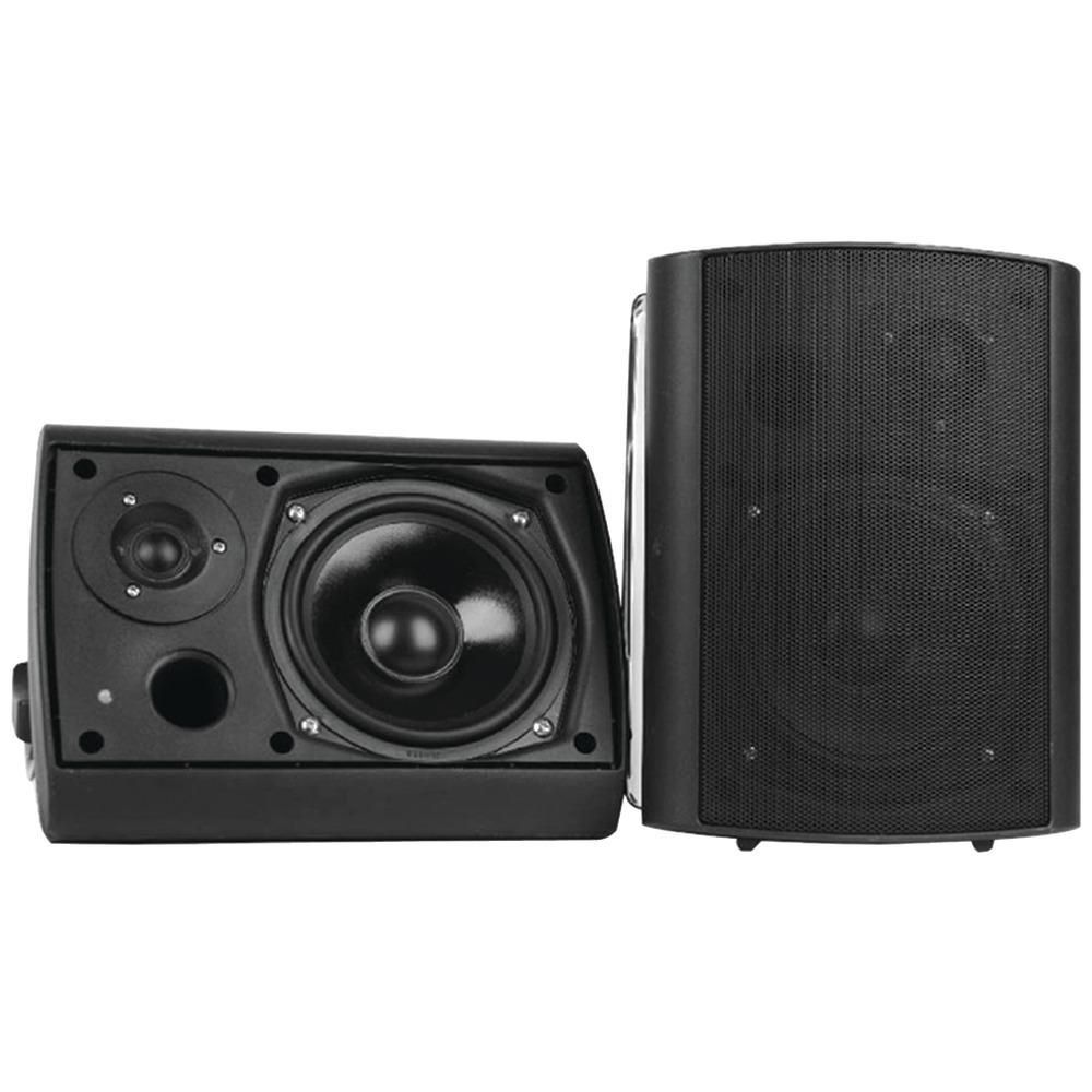 Pyle Home 6 5 Indoor And Outdoor Wall Mount Bluetooth Speaker System Black