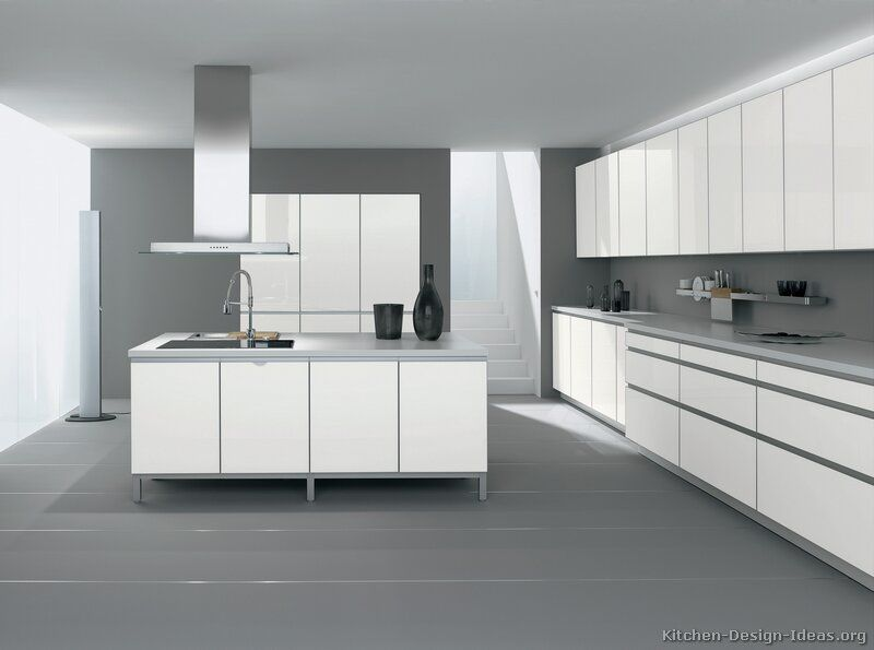 Modern Grey And White Kitchens kitchen idea of the day: modern white kitchens. (by alno, ag