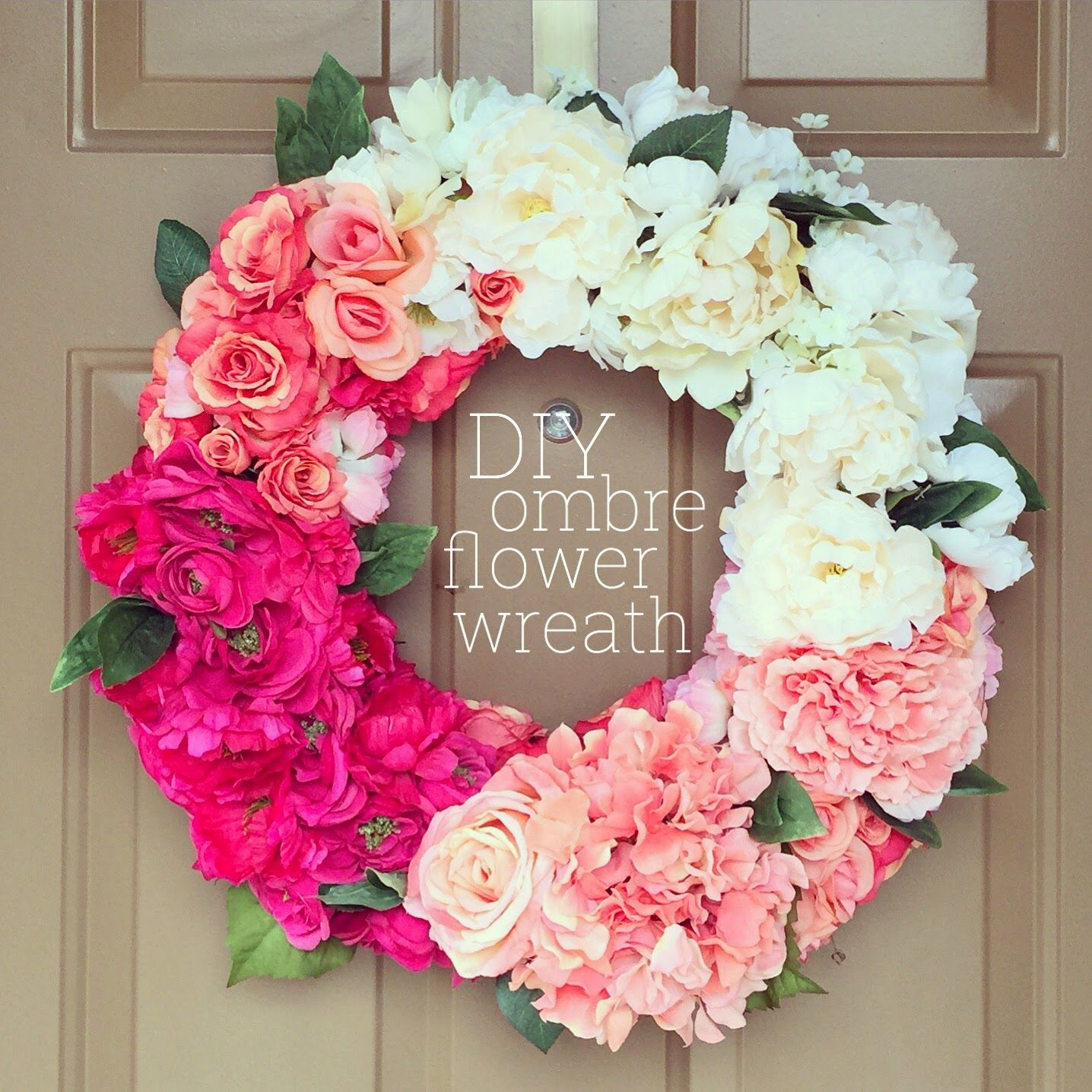 Diy Ombre Flower Wreath Lisa Loves John Diy And