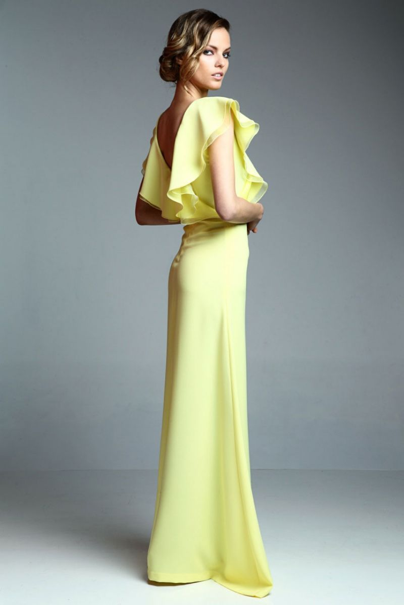 Vestido Volantes Hera Amarillo | Dress codes, Moda and Gowns