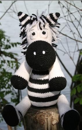 Crochet knit zebra