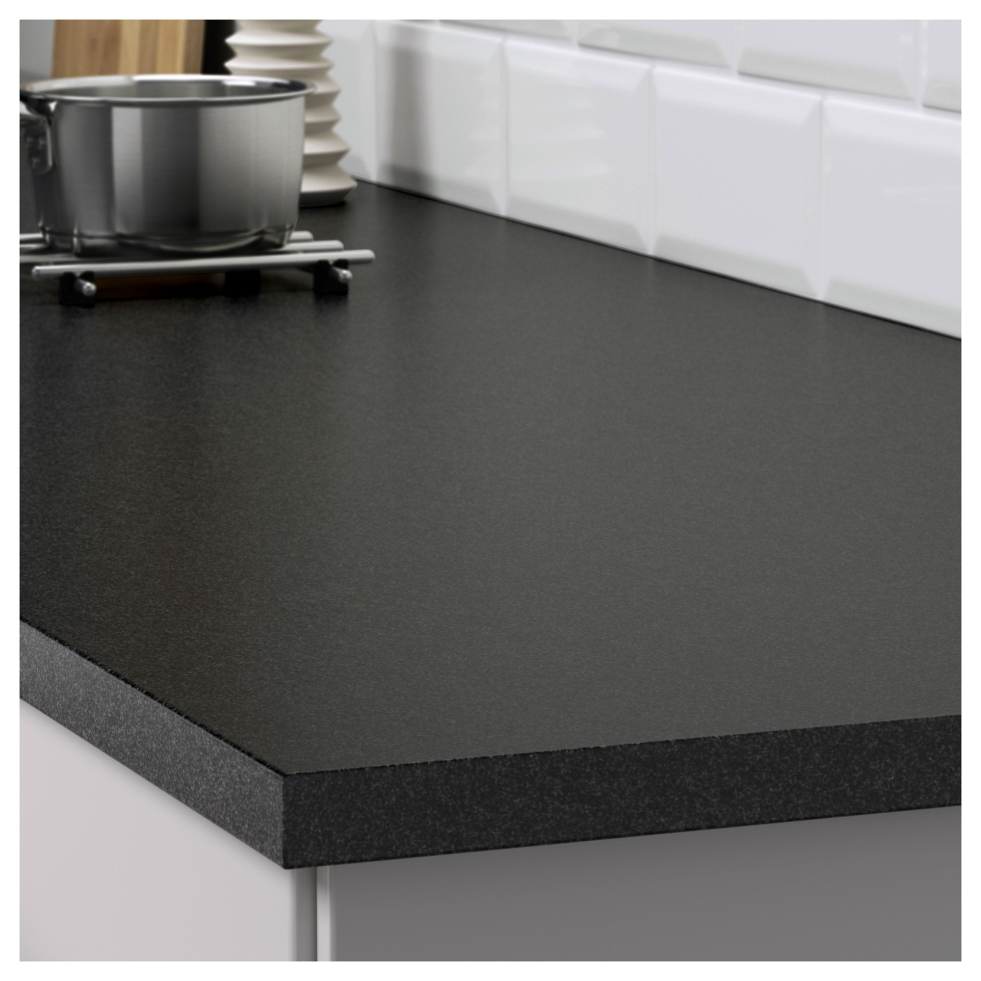 Ekbacken Countertop Black Stone Effect Laminate 98x1 1 8 Ikea Kitchen Remodel Countertops Countertops Laminate Countertops