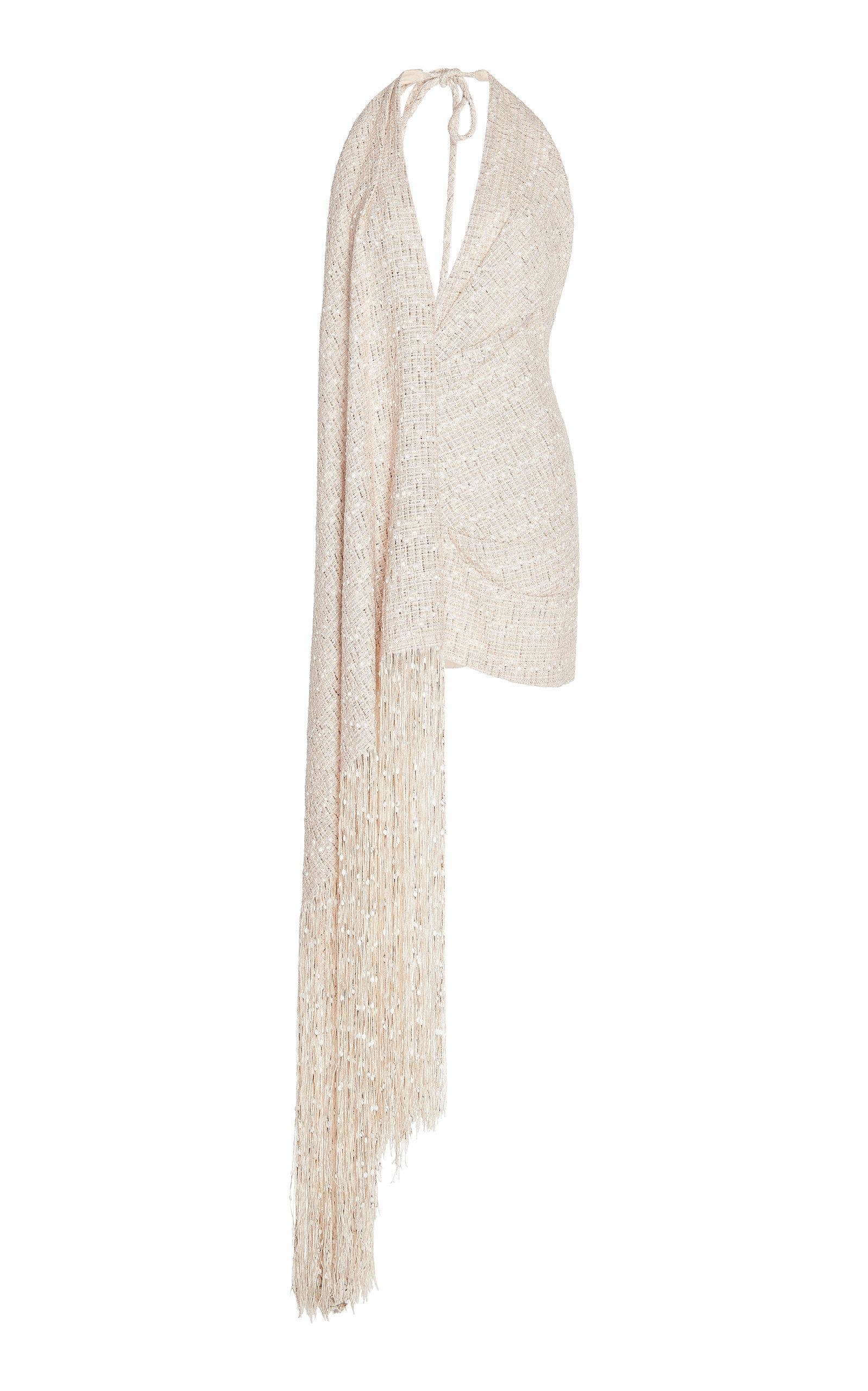 aca682400097 Valoria Fringe-Detail Tweed Dress by JACQUEMUS Now Available on Moda  Operandi