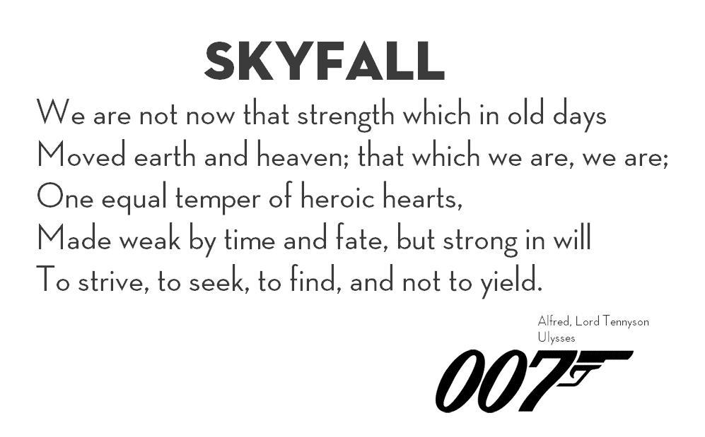 Ulises Poema De Skyfall 007 Lord Tennysons Poem Ulysses