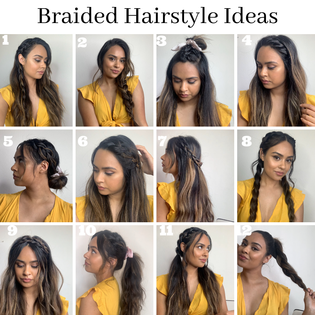Easy Braided Hairstyle Ideas In 2020 Braided Hairstyles Easy Thick Hair Styles Braided Hairstyles