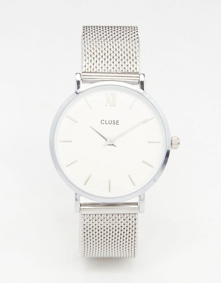 Image 1 of Cluse Minuit Silver Mesh Watch CL30009 - womens nice watches d16dea52dfcf