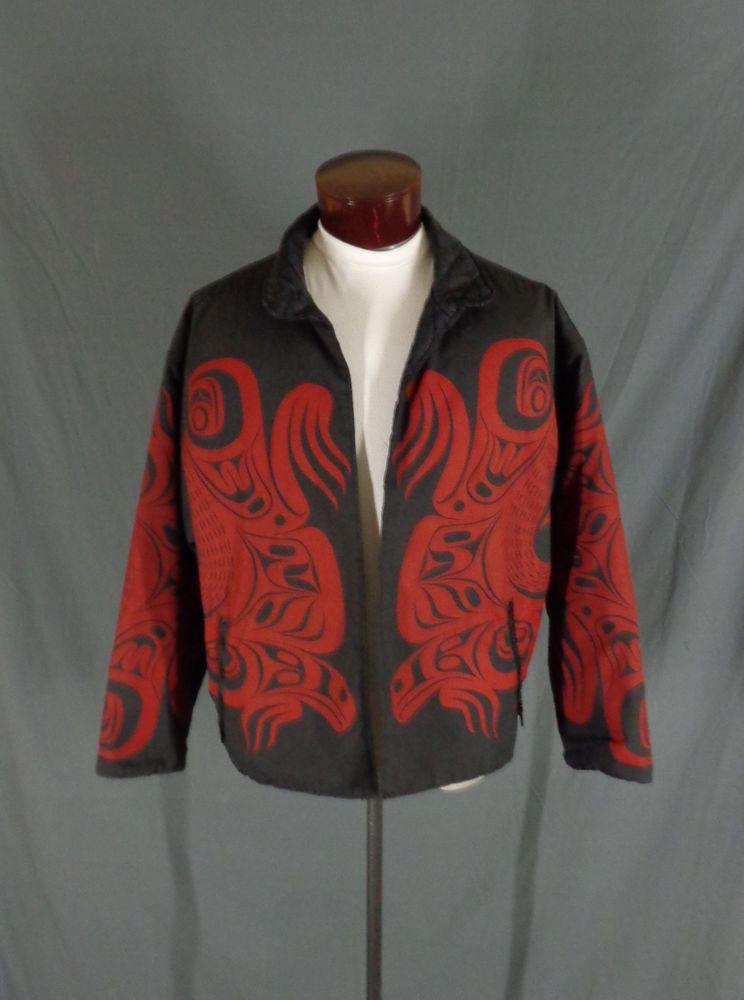 a5064f91 Rare Vintage Nytom Makah Northwest Native American Tribal Totem Jacket -  Signed #HandmadebyNytom #Jacket