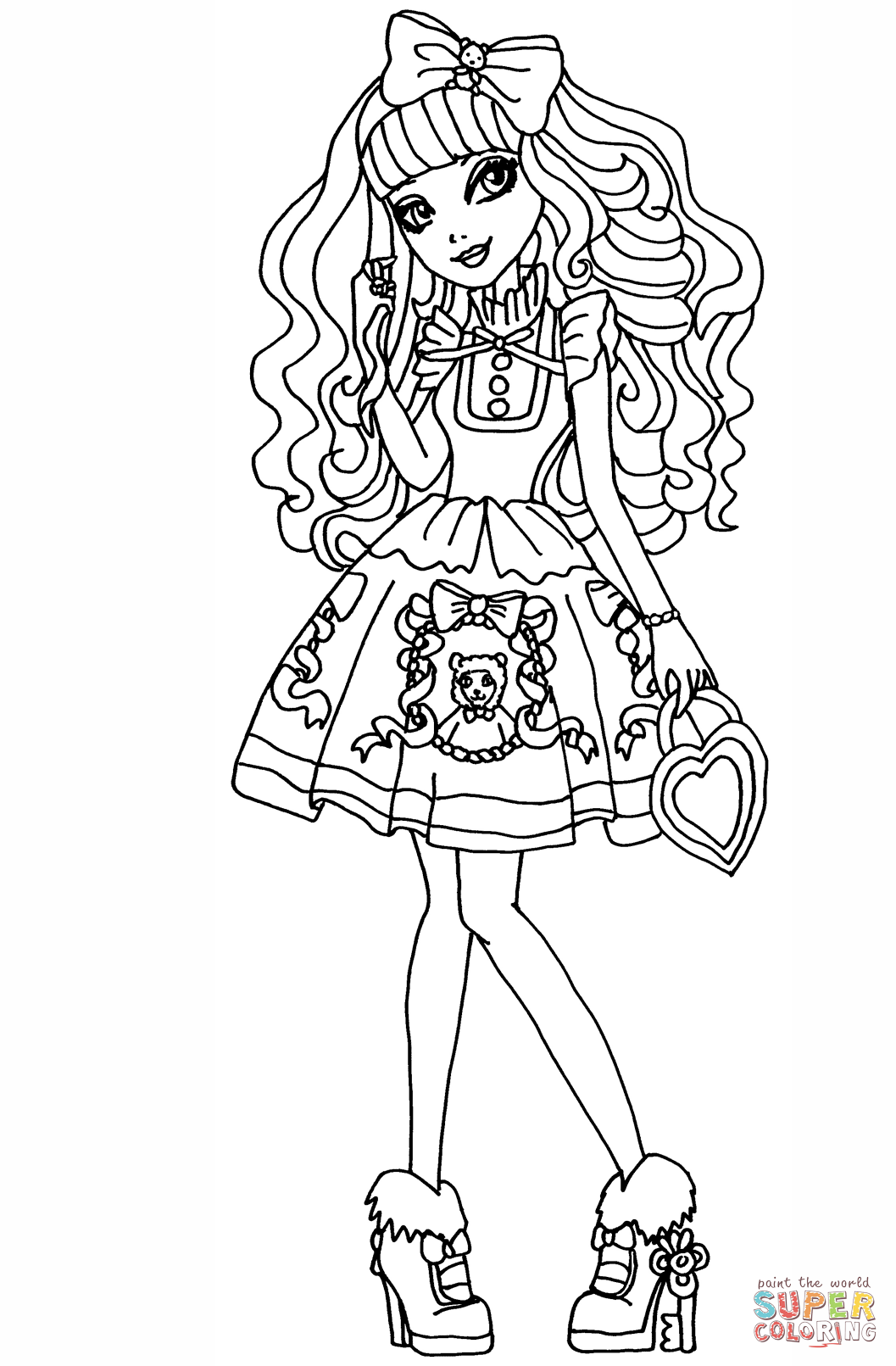 Ever After High Blondie Locks Super Coloring Coloring Pages