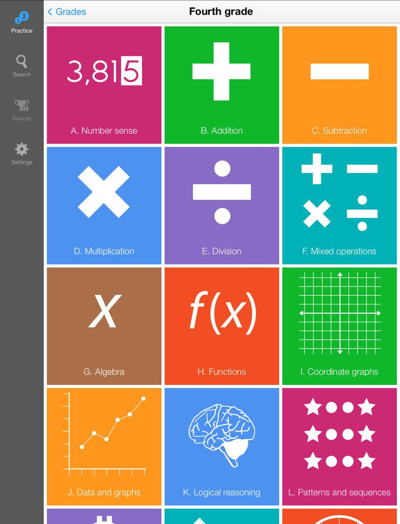 Make math tangible with the IXL Math Practice App! Over 1,500 ...