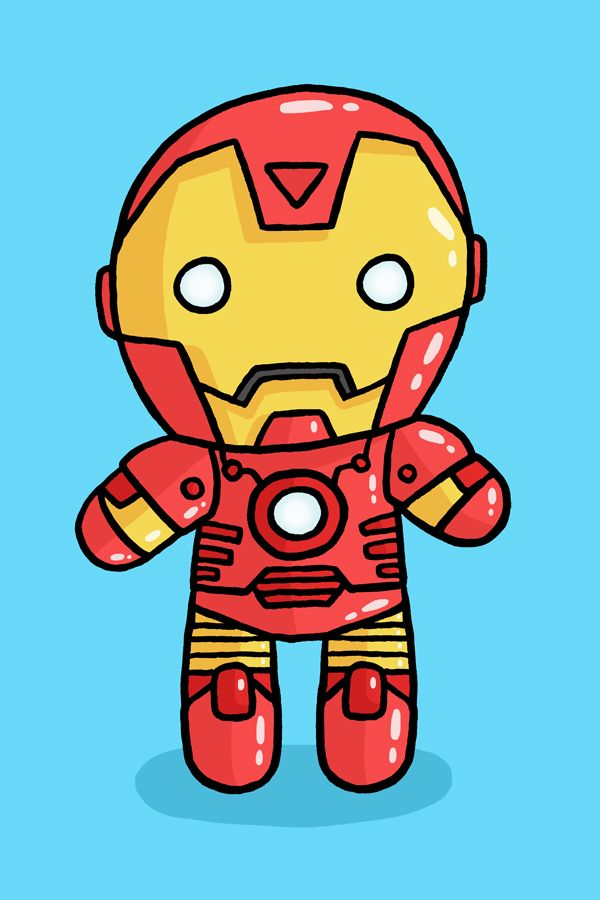 Ironman Gunna Make A Plush From This Image Iron Man Cartoon Cartoon Styles Iron Man Cute iron man animated wallpaper