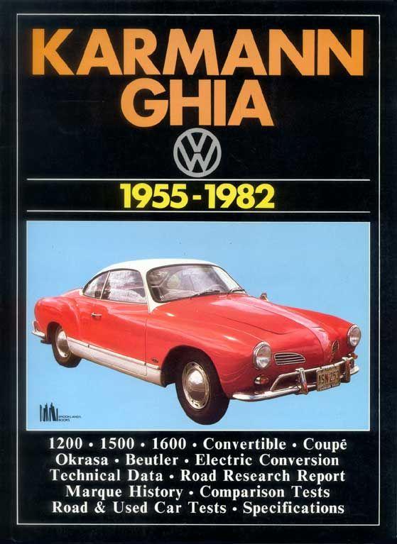 Vw Karmann Ghia 1955 82 By R M Clarke Paperback 1986 Karmann Ghia Vw Karmann Vw Karmann Ghia