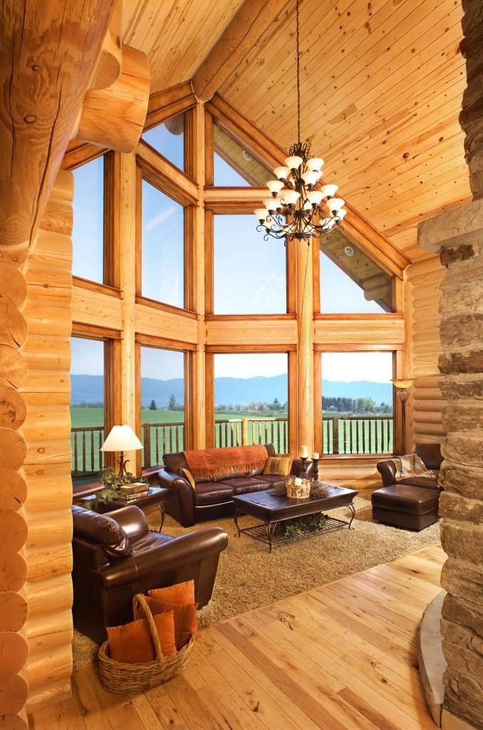 Interiors With Images Log Home Interiors Log Home Interior