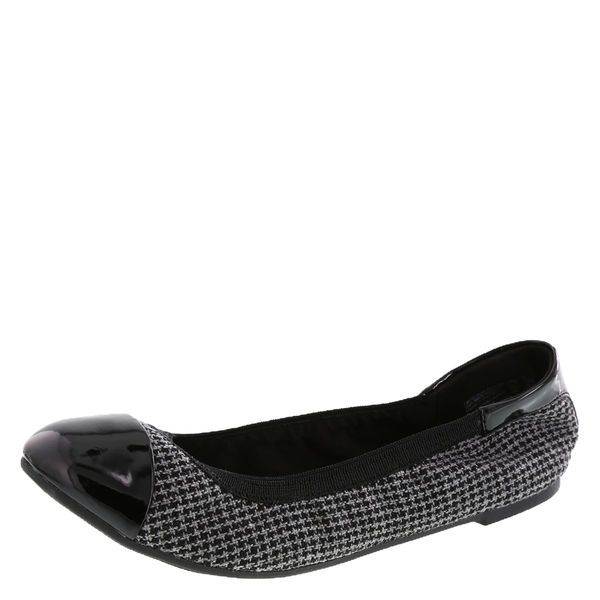 Black and tweed Dexflex flats from Payless