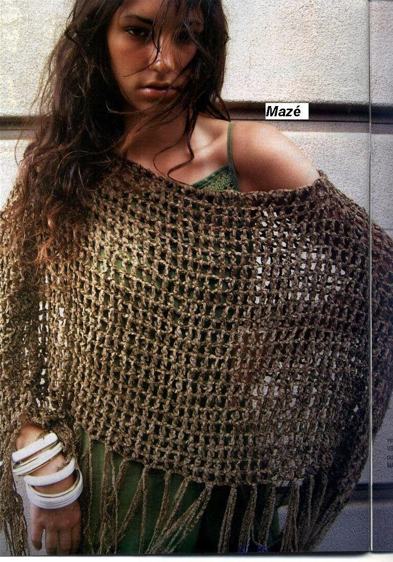 Inspirações de Croche com Any Lucy: Xale