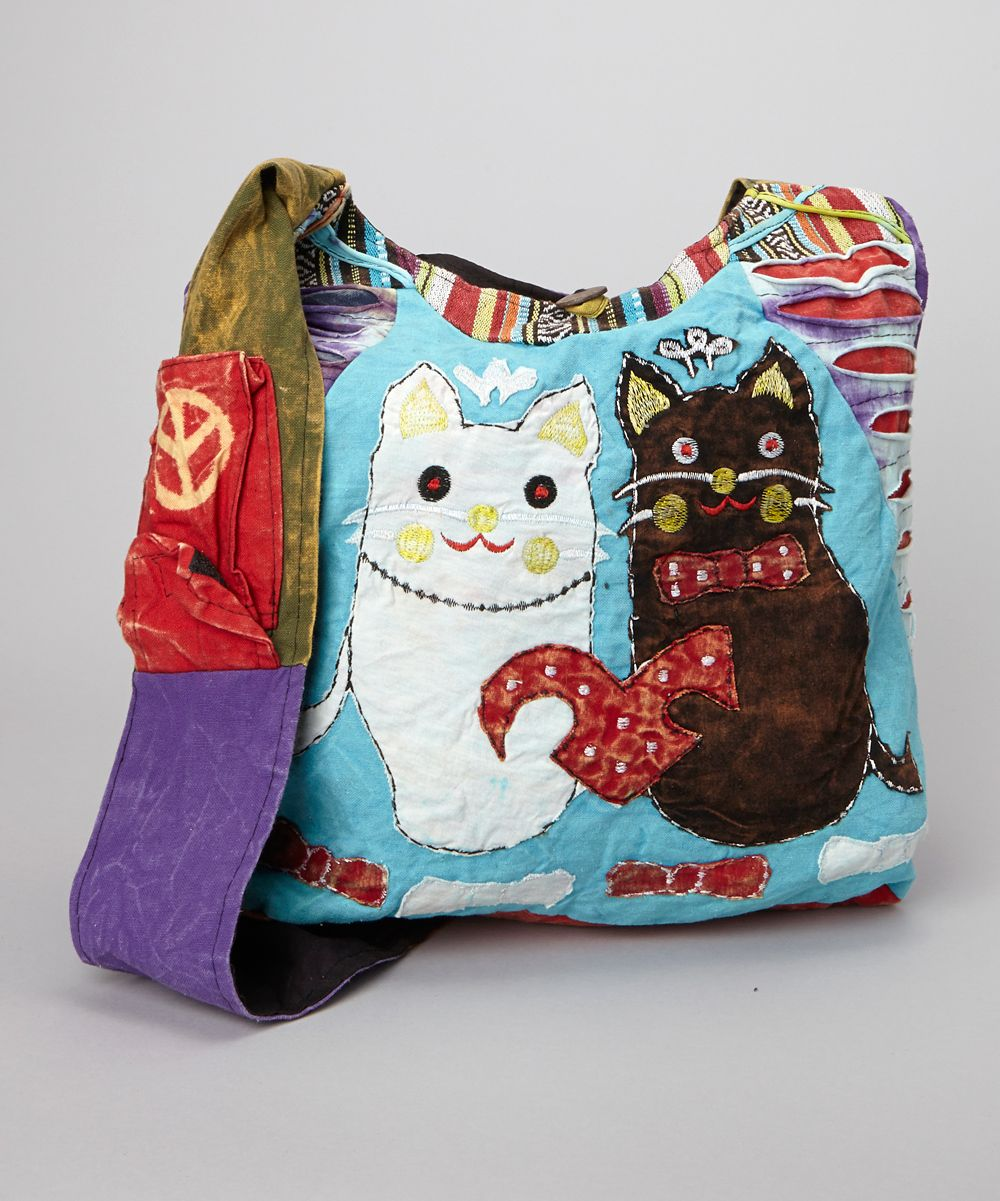 Blue Cats Hobo By Rising International Thick Embroidery A