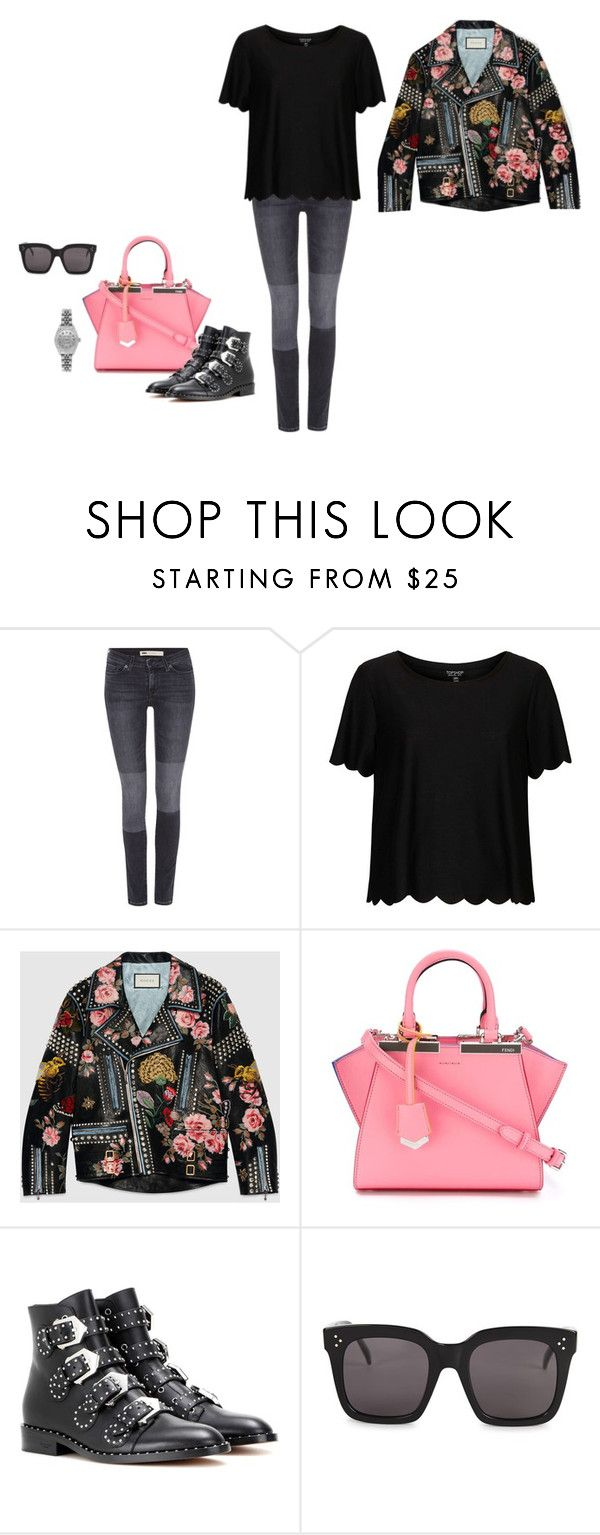 """Me"" by vaale ❤ liked on Polyvore featuring Levi's, Topshop, Gucci, Fendi, Givenchy, CÉLINE and Rolex"