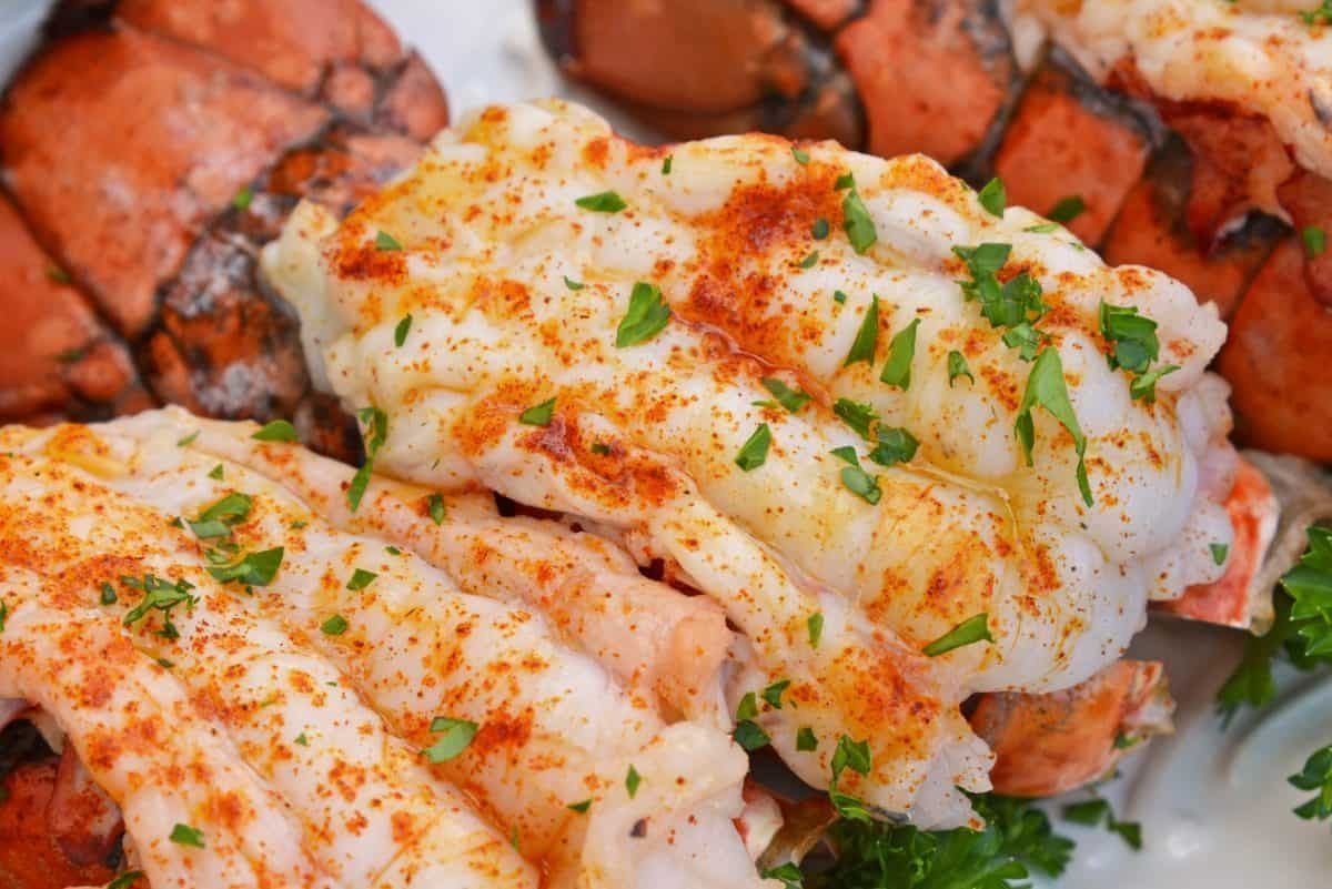 fancy restaurant Broiled Lobster Tails with Lemon Butter ...
