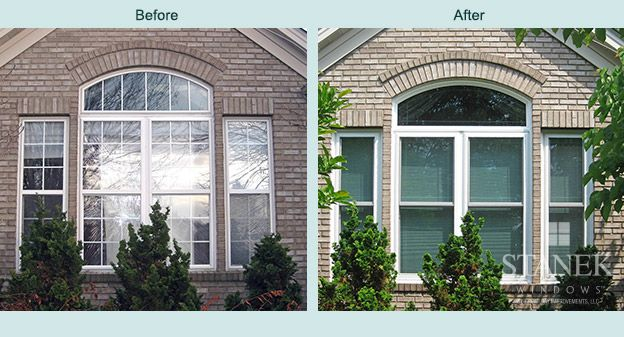 Do Your Double Hung Windows Need To Be Replaced View Photos From A Recent Project Our Cleveland Stanek Windo Vinyl Replacement Windows Windows Window Projects