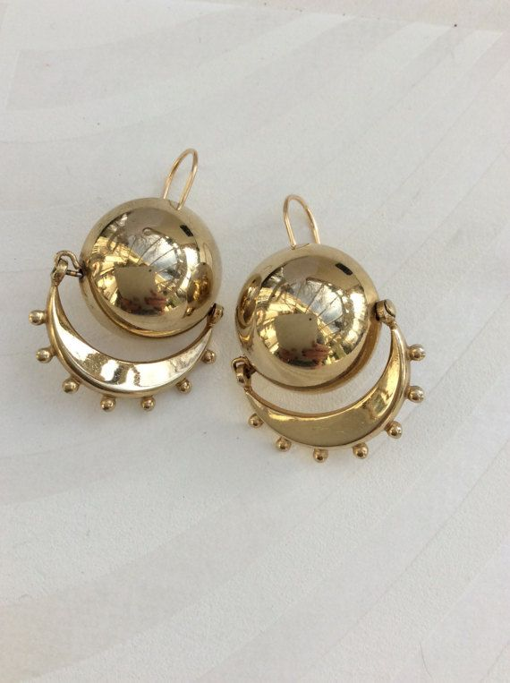 bfe7531b60542 Vintage RETRO SATELLITE EARRINGS stunning Accessocraft articulate ...