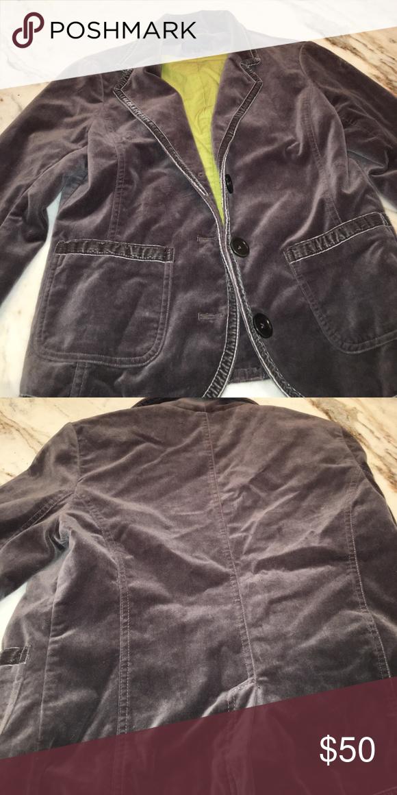 Boden velvet blazer Great condition. Color is gray Boden Jackets & Coats Blazers