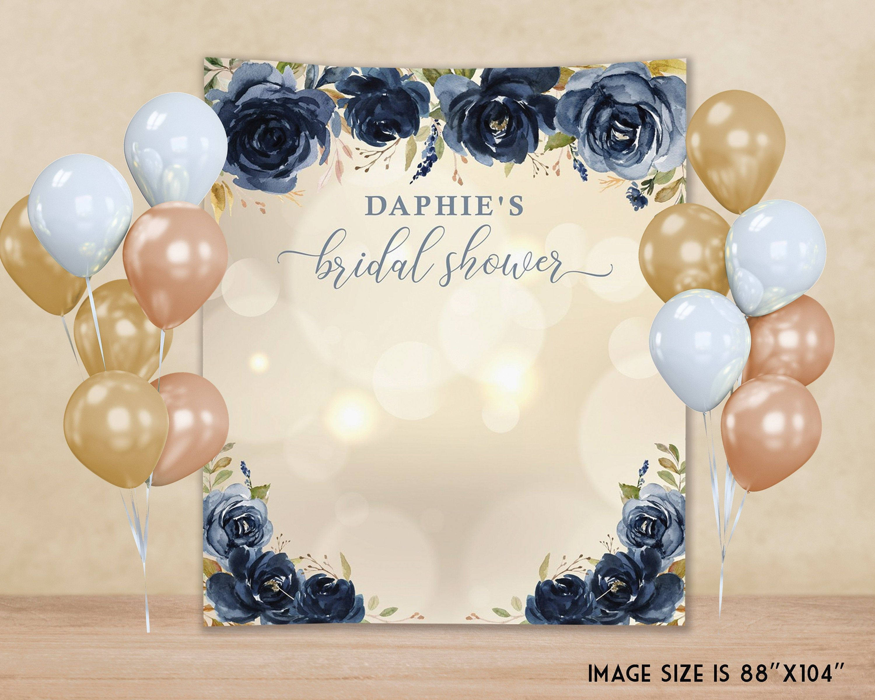 GoHeBe 5x7 or 7x5 Cotton Polyester Backdrop Personalized Custom Baby Shower Birthday Party Bridal Shower Wedding Engagement Party Retirement Party Backdrop Banner