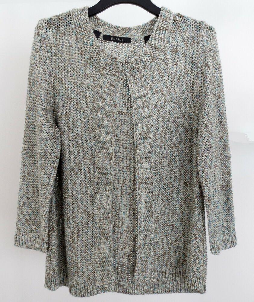 Damen Melange Natur Esprit Cardigan Pullover Strickjacke oWQrBdCxe