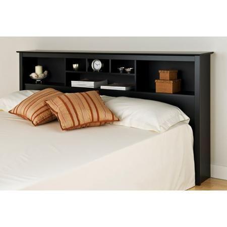 Prepac Brisbane King Platform Storage Bed With Storage Headboard Black Walmart Com