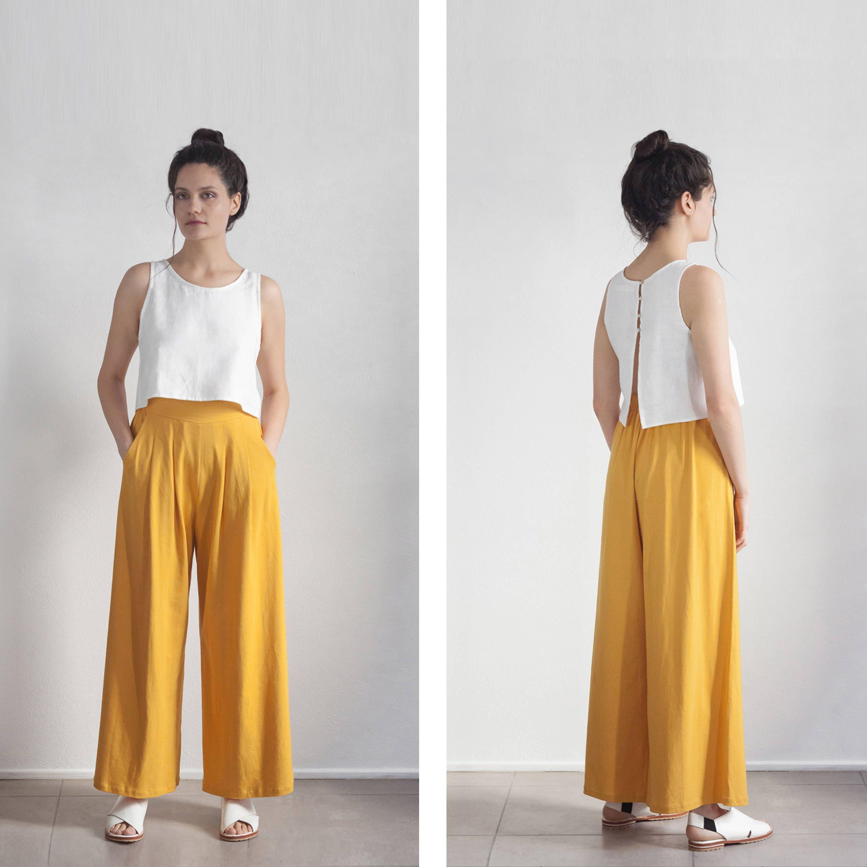 52fe3c271d80 Wideleg Pants, Yellow Mustard Palazzo Pants , High waisted Trouser , tall  palazzo pants , petite pants , plus size Pants