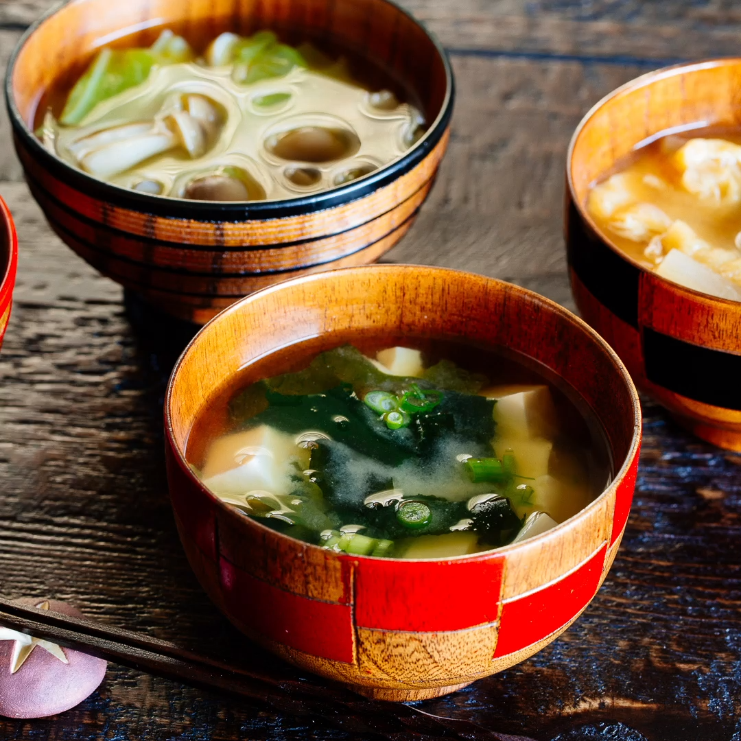 Homemade Miso Soup - It's super easy to make an authentic Japanese miso soup with savory homemade dashi. Clam, tofu, Shiitake mushrooms, Wakame seaweed, daikon and many other Ingredients you can use! It's healthy and wholesome. #misosoup #easymisosoup #japanesefood #japanesesoup #easysouprecipes #asiansouprecipes | Easy Japanese Recipes at JustOneCookbook.com
