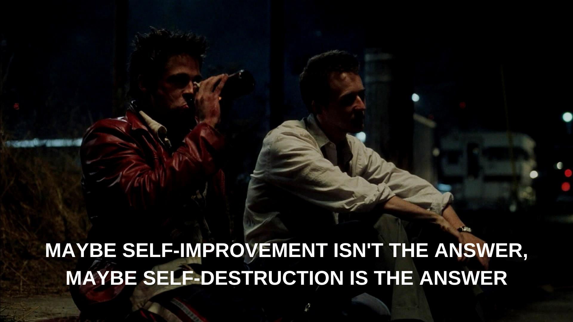 Fight Club Movie Quotes Movie Scenes Wallpaper Quote