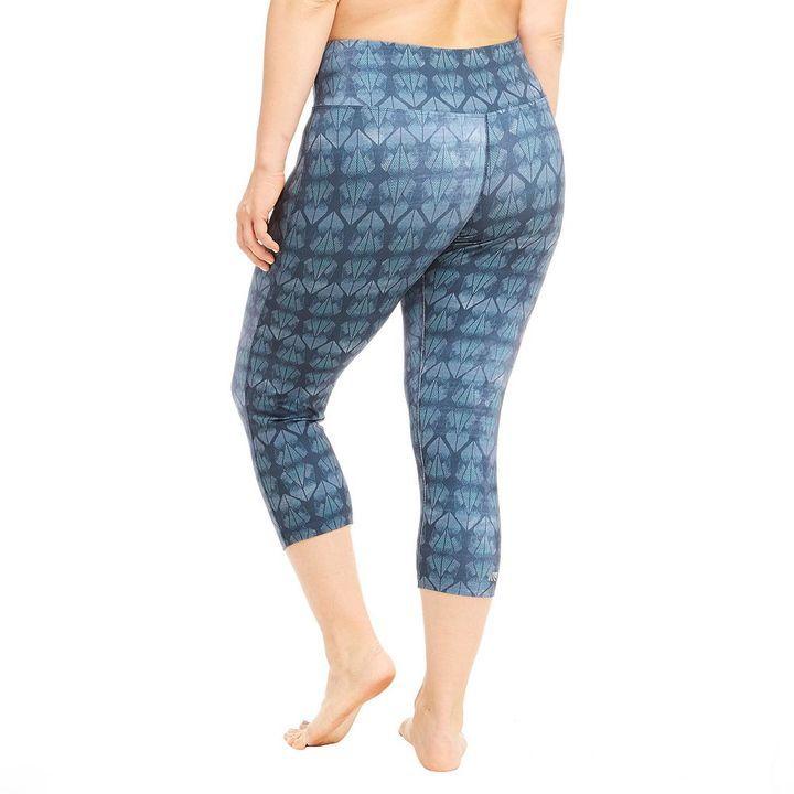 plus size marika curves embossed capri leggings * read more