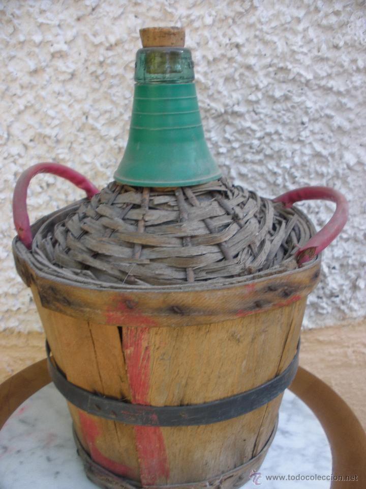Compro Botellas De Vino Antiguas Antigua Garrafa O Damajuana En Vidrio Forrada De Madera Marca V
