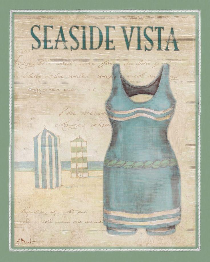 Vintage Bathing Suits Ii Paul Brent Vintage Bathing Suits Canvas Set Vintage Poster Art
