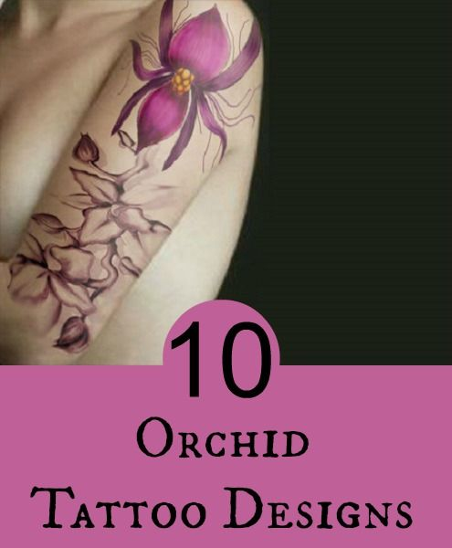 Top 10 Orchid Tattoo Designs