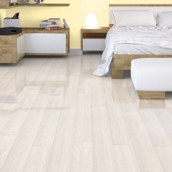 Sri Lanka White Tropical Gloss Laminate Flooring 12mm