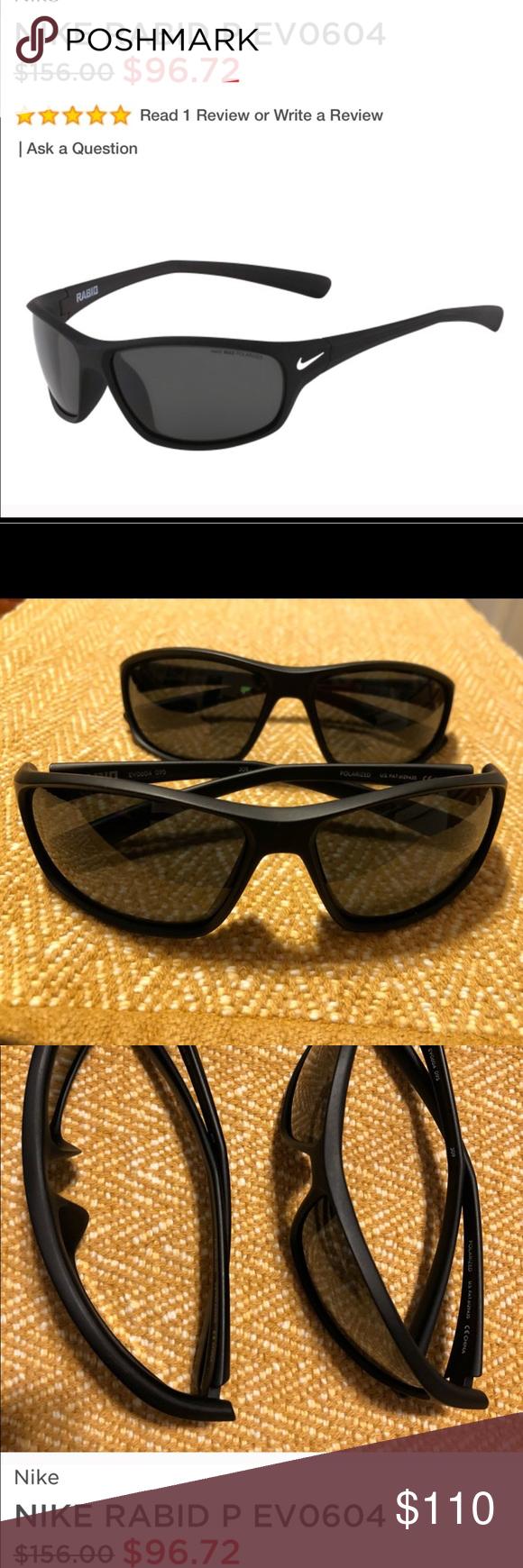 32346feba66b NIKE SUNGLASSES 🕶 SET OF 2 like new! POLARIZED Nike Rabid EV 0604 Original  price $156 each Color matte black polarized lens No case Excellent  condition ...