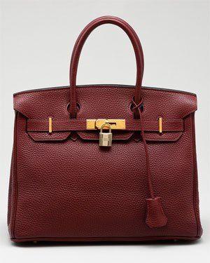 Hermes Wine Clemence Birkin Bag  06b123589d970