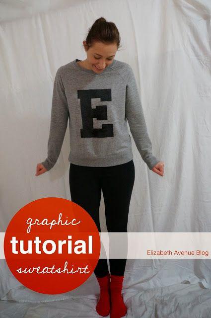 "Graphic Letter ""E"" Sweatshirt Tutorial"