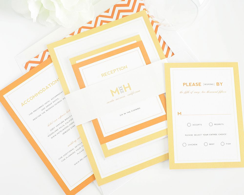 Modern Initials Wedding Invitations | Shine wedding invitations ...