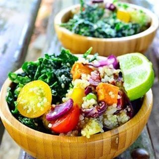Quinoa kale sweet potatoe salad