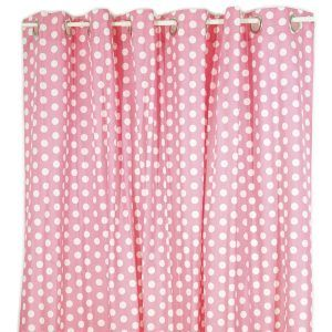 Black And Pink Polka Dot Shower Curtain
