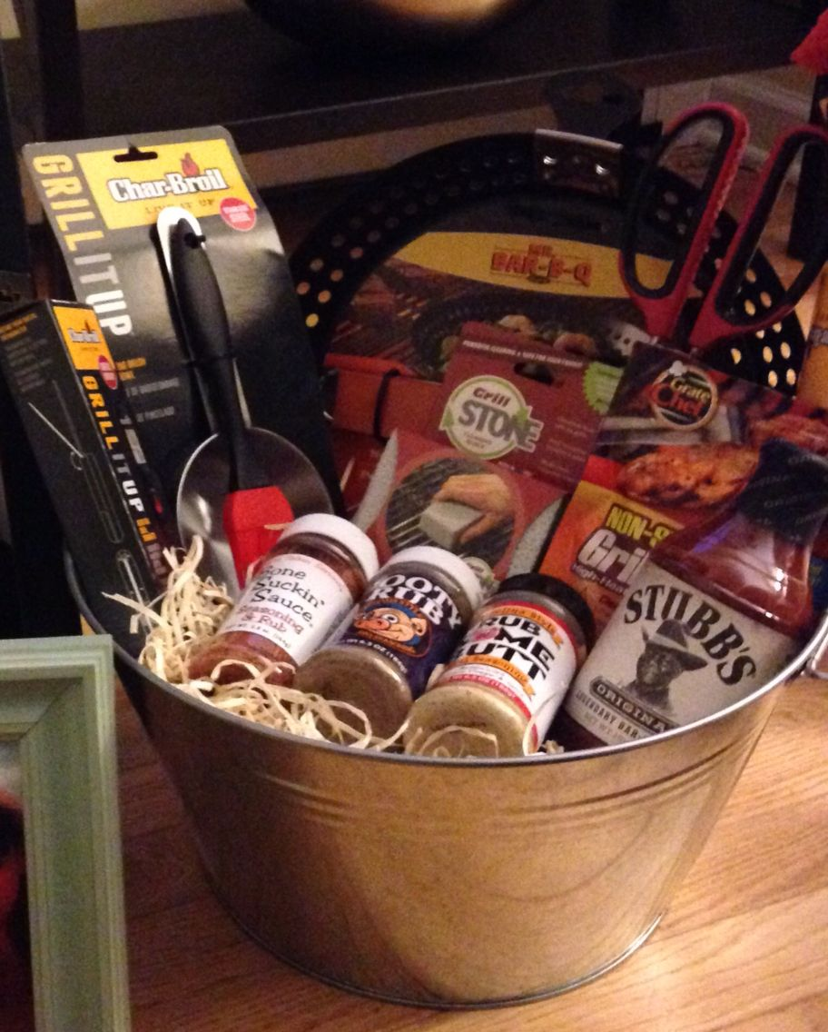 Fundraiser Gift Ideas: BBQ Grill Gift Basket !
