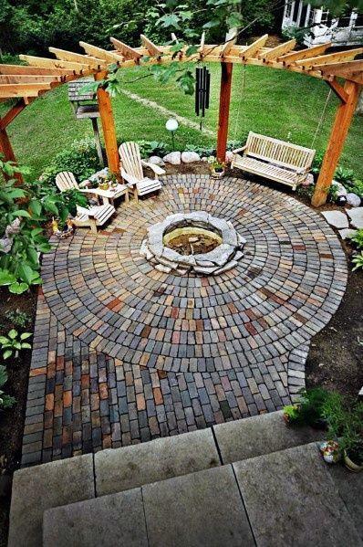 Top 50 Best Brick Patio Ideas - Home Backyard Designs